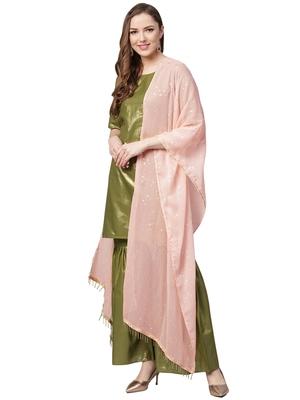 Green printed cotton kurta sets