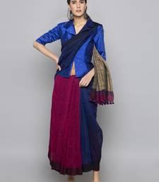 Blue woven taffeta readymade blouse