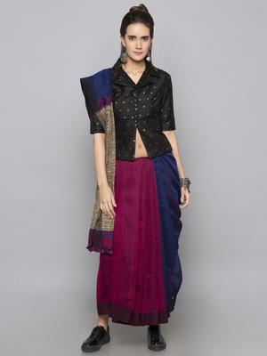 Black woven taffeta readymade blouse