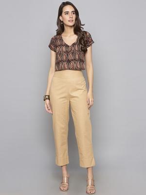 Multicolor woven cotton readymade blouse