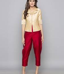 9420c41624 Champagne woven taffeta readymade blouse · Shop Now