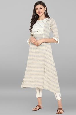 Multicolor printed cotton kurta sets