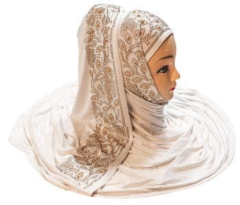 White plain cotton hijab