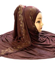 Coffee plain cotton hijab
