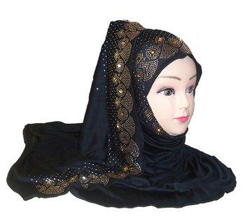 Black Plain Cotton Hijab