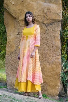 Lehriya Rajputi Style Gown