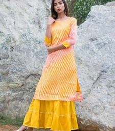 Lehriya Kurta with sharara