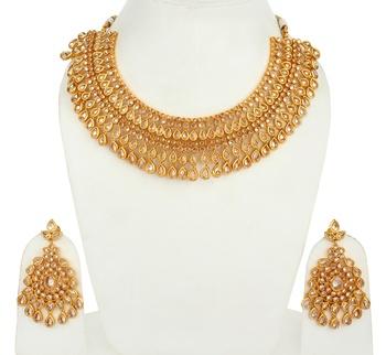 Designer Gold Plated Wedding agate necklace-sets
