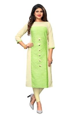 Multicolor embroidered cotton kurti