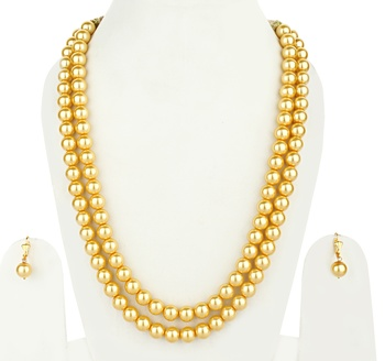 Sea Shell 2 Layered Imitation Pearl Necklace Sets