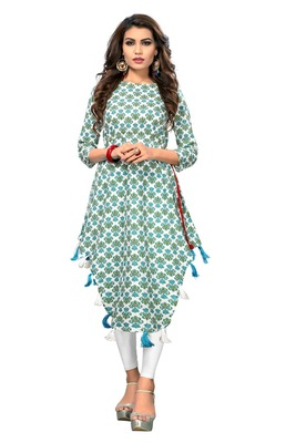 Multicolor printed cotton kurti