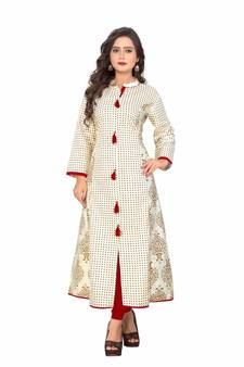 c7d1e0294c White Kurti Online   Buy Plain White Kurtis with Embroidery Neck ...