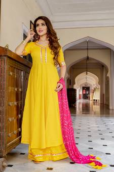 065e182985 Yellow Suits Online | Buy Yellow Color Salwar Kameez from Best ...