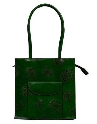 Shantiniketan Green Color Handcrafted Boho Hippie Gypsy Genuine Womens Handbag