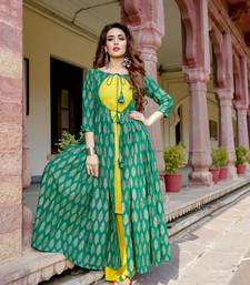 multicolor embroidered Cotton kurtis
