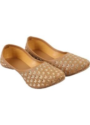 Rudra grey pu leather traditional mojari for girl's & women's footwear