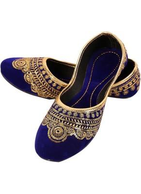 Rudra multicolor pu leather traditional mojari for girl's & women's footwear