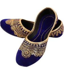 Rudra multicolor pu leather traditional mojari for girl's & women's footwear