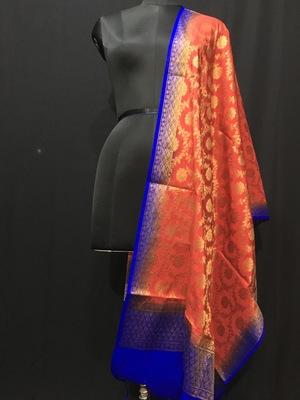 multicolor woven katan Silk dupattas