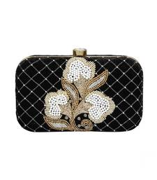 MaFs Women's Sequence Box Clutch for Wedding and Parties, Black