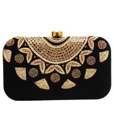 e0e9599075 MaFs Women's Hand Embroidered/Zari Zardozi work Box Clutch Bag For Bridal,  Casual,