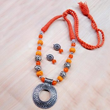 Orange Agate Necklaces