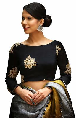 Black Designer Hand Work  Blouse