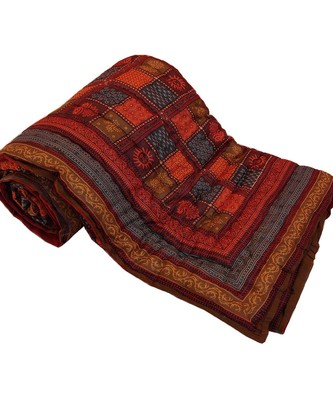 Jaipuri Print Cotton Double Bed Razai Quilt