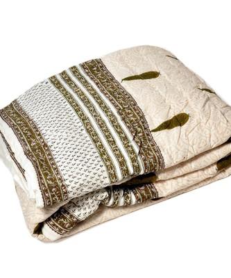 HandBlock Print WhiteBase Jaipuri Double Quilt