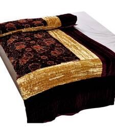 Jaipuri Maroon Jaipuri Double Bed Velvet Quilt