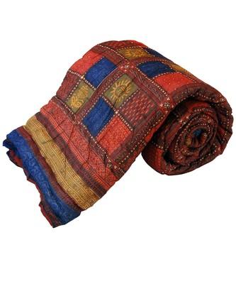 Jaipuri Bagru Cotton Single Bed Razai Quilt