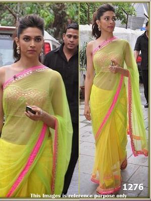 e6339b549d Beautiful designer party wear saree by Deepika padukone at chennai express  promotion - FABIONA - 385002
