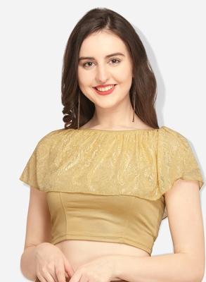 Inddus Gold Solid Lycra Blouse