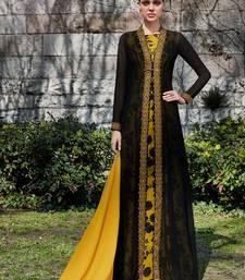 black embroidered georgette unstitched salwar with dupatta