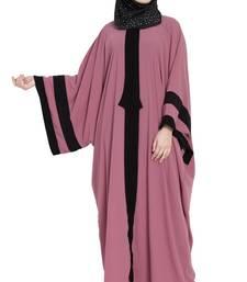 pink designer tie kaftaan style abaya