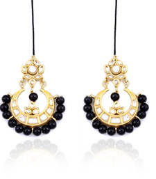 Buy Black Beads Chandelier Earrings housewarming-gift online