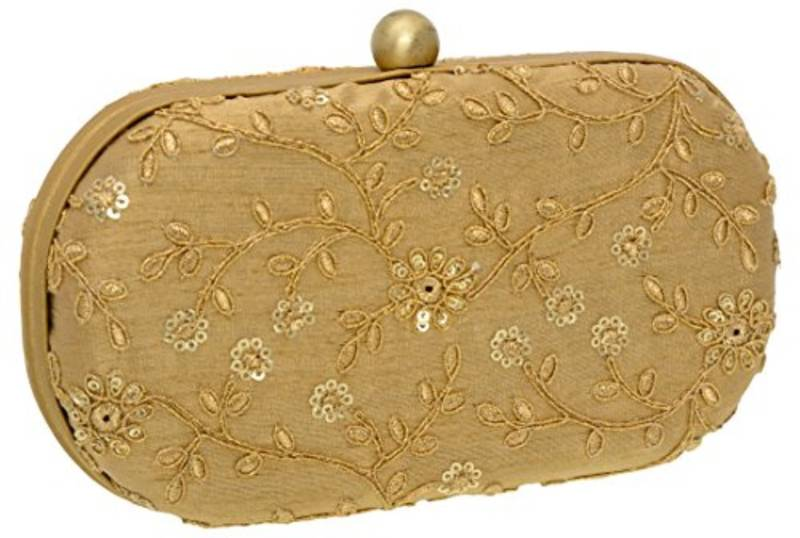 73cc4972408 Box Clutch with Dori Work Along With Zari and Sequins In Floral Jaal Makes  It Exquisite Imported Texture ...