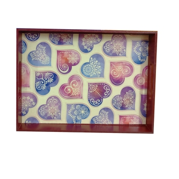 Decoupage Wooden Serving Tray for Home