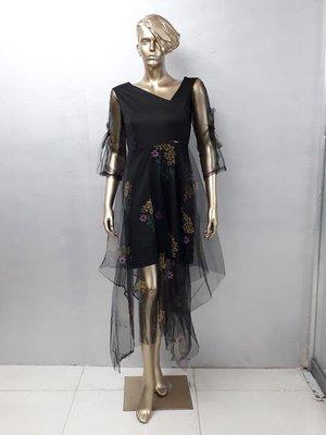 Black Kurta with print made in Net Fabric
