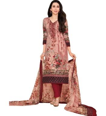 0e05442a57 Multicolor Satin Cotton Printed & Embroidered Unstitched Salwar Suit - Mf  Next Com - 2860042