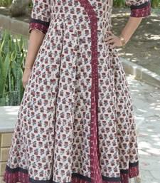 Multicolor printed cotton kurta