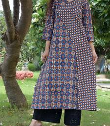 Multicolor printed cotton kurta