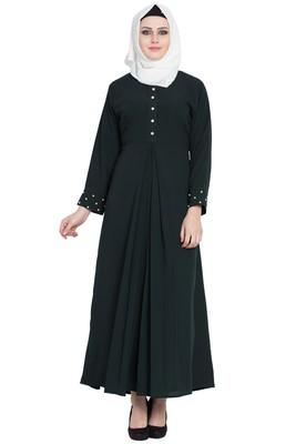 Green stylish abaya for women