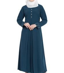 Teal green stylish abaya for women
