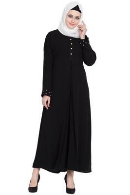 Black stylish abaya for women