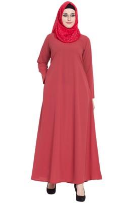 Flamingo a-line simple abaya