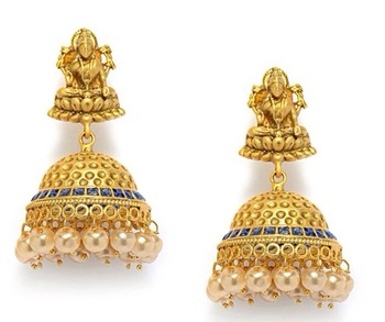 a6b7038134f2d Multicolor yellow gold jhumkas