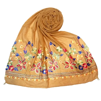 Stole For Women - Hand Work Emboidered Premium Cotton Stole