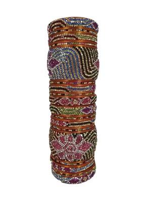 Prosper Hyderabadi Bridal Joda Multicolor Party Wear Bangle Set For Women And Girls 18 Pieces
