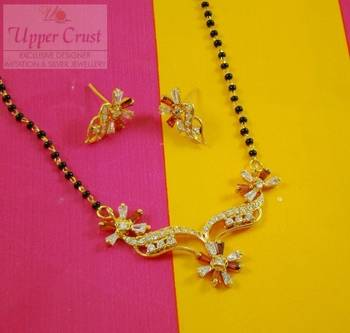 American Diamond Baggets CZ Mangalsutra